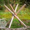 Verstelbare houten standaard medium voor de handpan